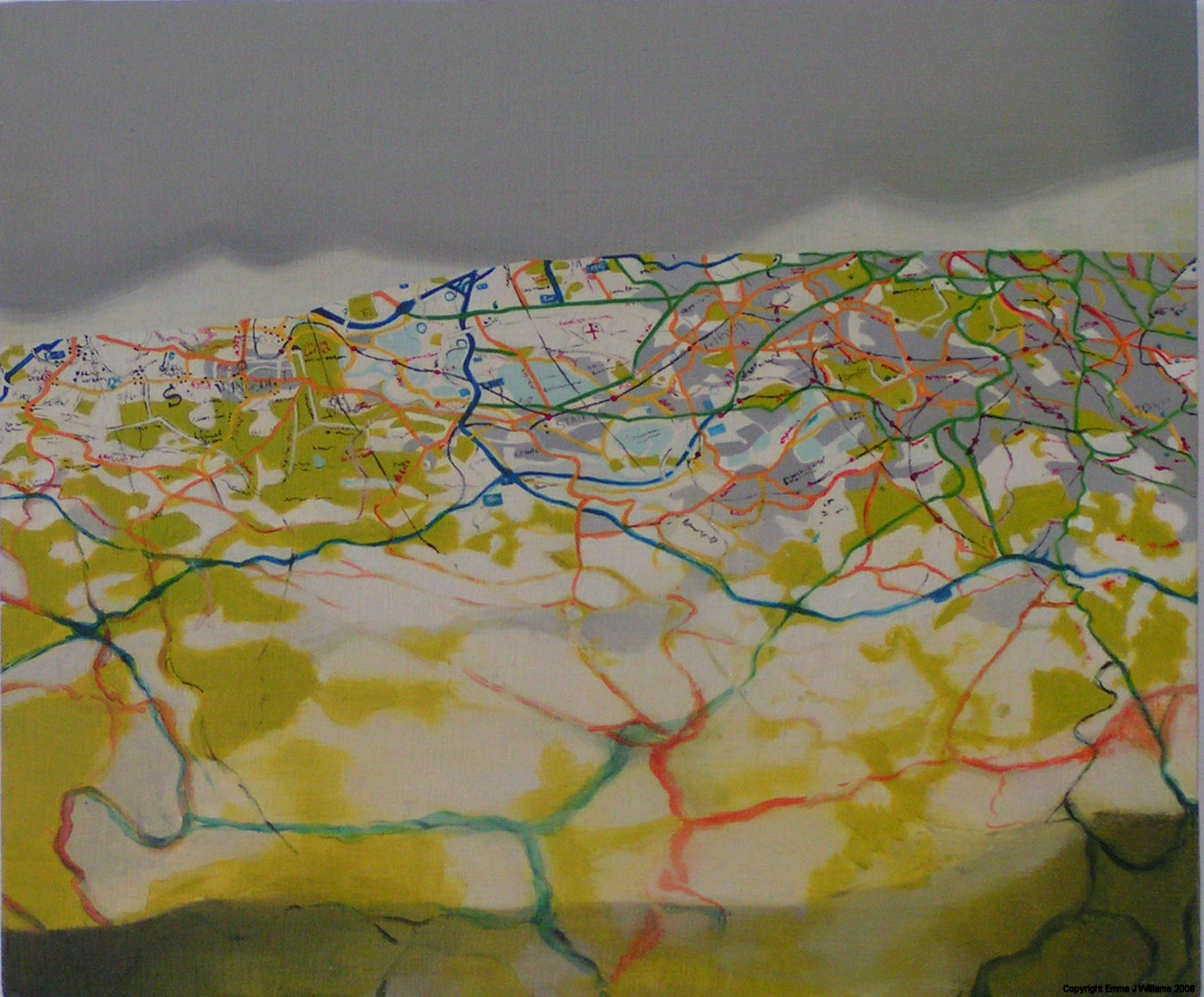 Emma J Williams 'Thames Valley' 2000 oil on board