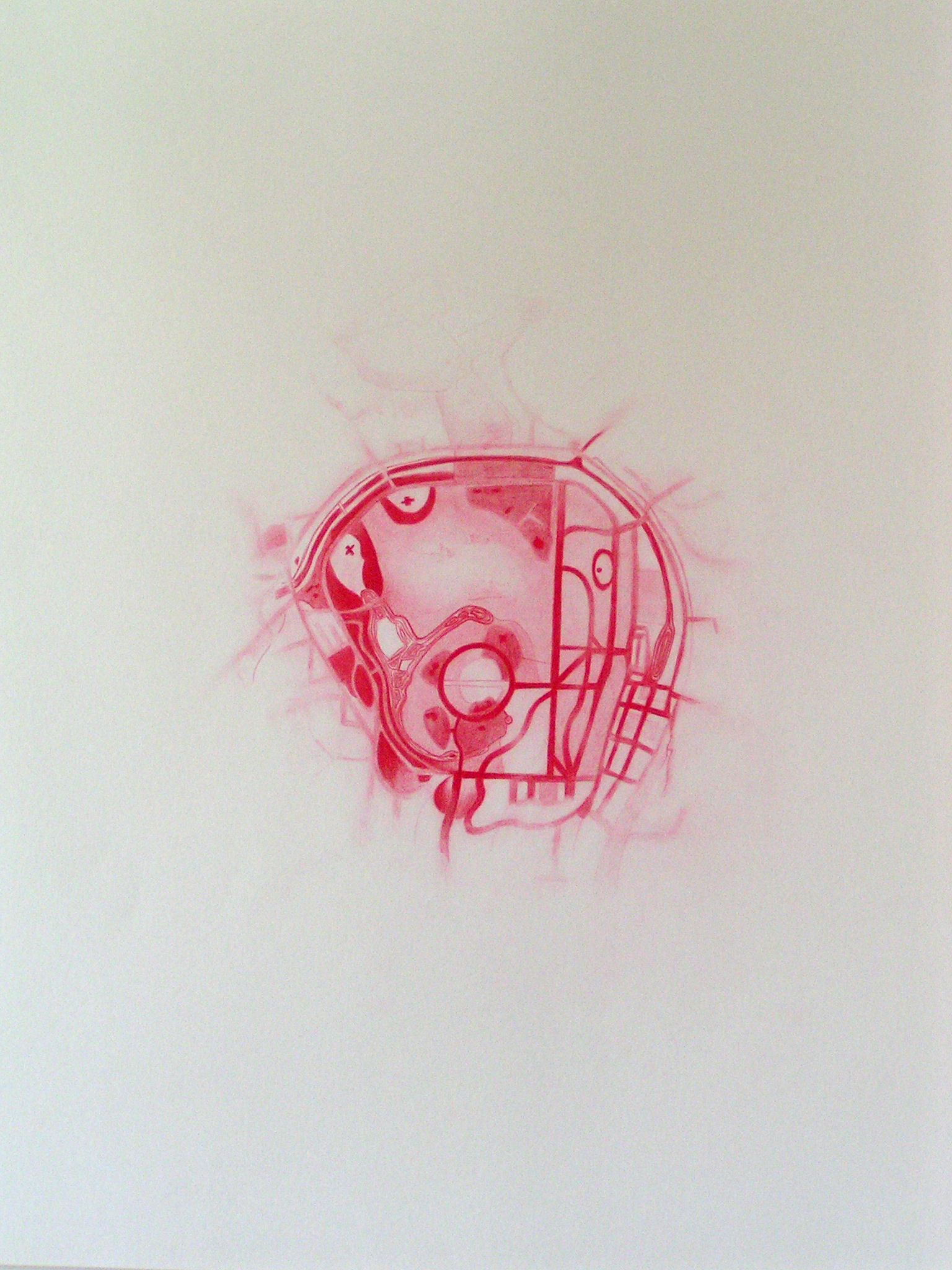 Emma J Williams 'Untitled Red Drawing No.7' 2008 pencil on paper